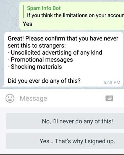 مراحل انجام رفع ریپورت تلگرام