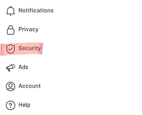 بخش Security در اینستاگرام