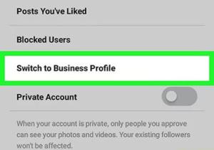 تبدیل اکانت شخصی به حساب تجاری در اینستاگرام