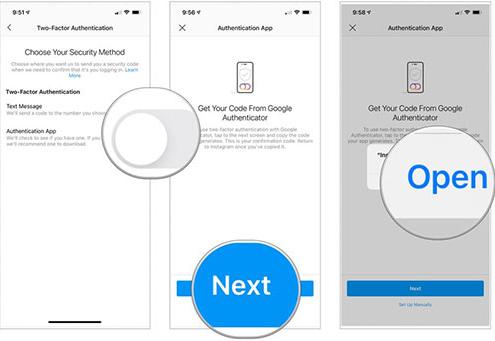 فعال سازی رمز دو مرحله ای اینستاگرام با استفاده از استفاده از اپلیکیشن احراز هویت